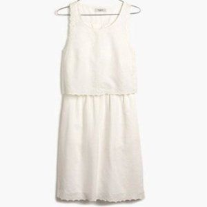 MADEWELL - Eyelet Open Back Overlay Dress Size 4